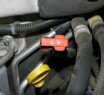 Transmission Dipstick Handle is Red